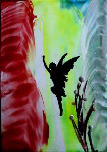 Kinderfeestjes schilderen met bijenwas Encaustic Art 1